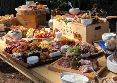 Welcome snacks at Honeyrock Cottages Weddings