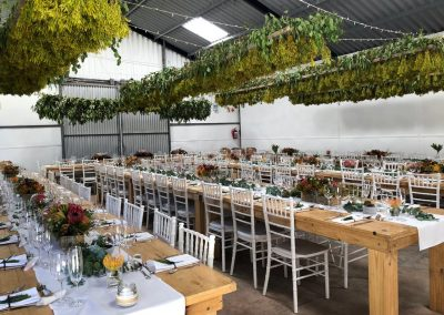Table decorations for Kleinmond Weddings