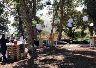 Outdoor bar at Honeyrock Weddings
